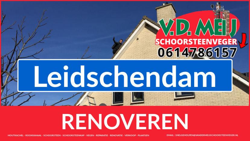 Tot ziens bij Van der Meij schoorsteenrenovatie Leidschendam