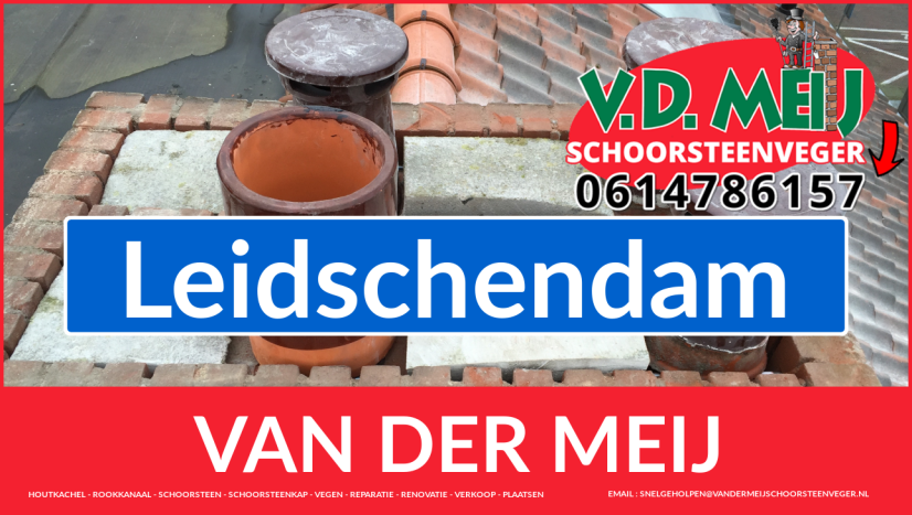 Van der Meij schoorsteen restauratie in Leidschendam