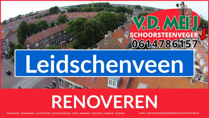 Tot ziens bij Van der Meij schoorsteenrenovatie Leidschenveen