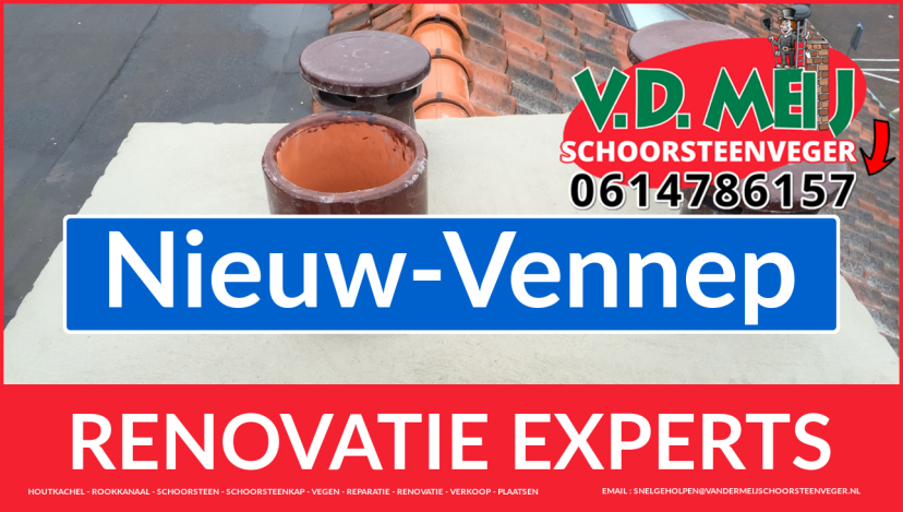 complete schoorsteenrenovatie in Nieuw-Vennep