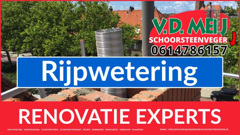 complete schoorsteenrenovatie in Rijpwetering