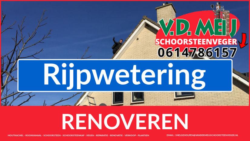 Tot ziens bij Van der Meij schoorsteenrenovatie Rijpwetering