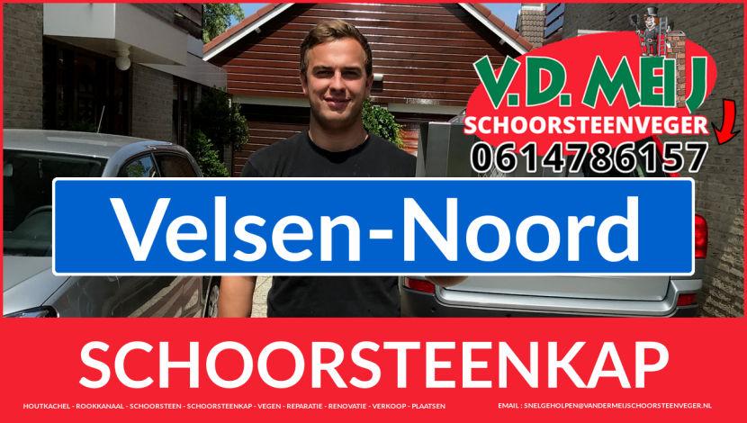 schoorsteen kap vervangen in Velsen-Noord