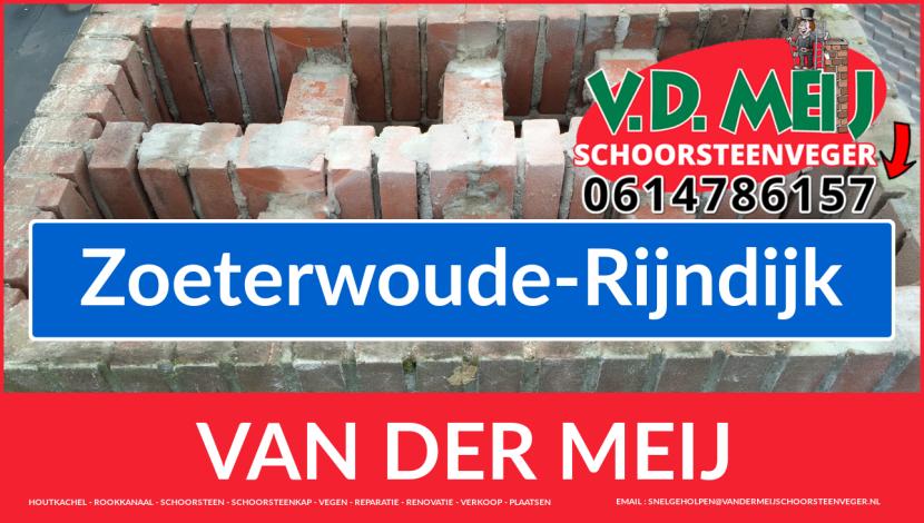 Van der Meij schoorsteen restauratie in Zoeterwoude-Rijndijk