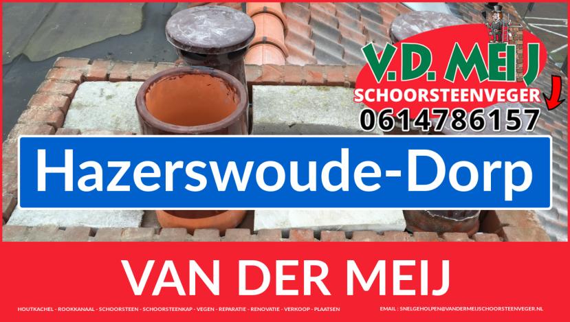 Van der Meij schoorsteen restauratie in Hazerswoude-Dorp