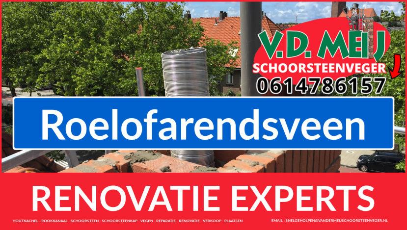 totale schoorsteenrenovatie in Roelofarendsveen