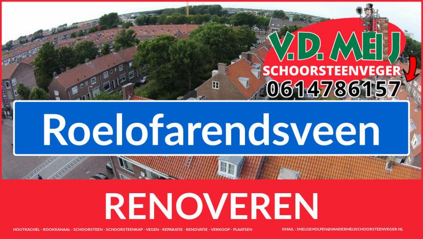 Tot ziens bij Van der Meij schoorsteen renovatie Roelofarendsveen