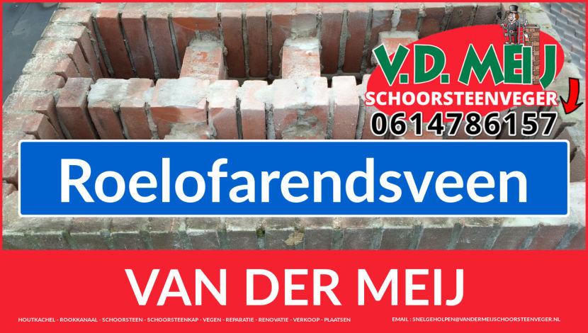 Van der Meij schoorsteen renovatie in Roelofarendsveen