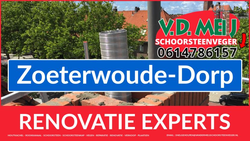 gehele schoorsteen restauratie in Zoeterwoude-Dorp
