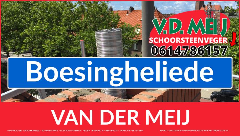 Van der Meij schoorsteen renovatie in Boesingheliede