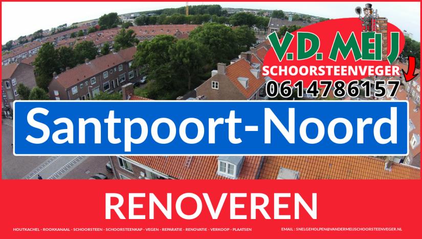 Tot ziens bij Van der Meij schoorsteen renovatie Santpoort-Noord
