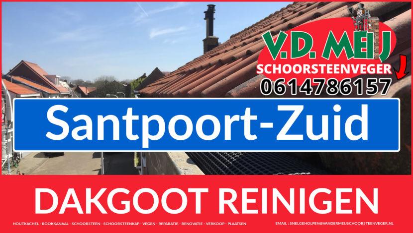 dakgoot vegen Santpoort-Zuid