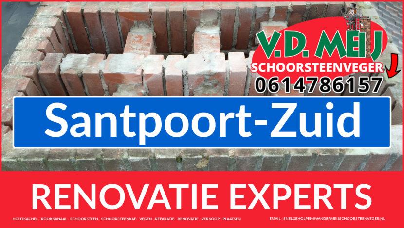 volledige schoorsteen restauratie in Santpoort-Zuid