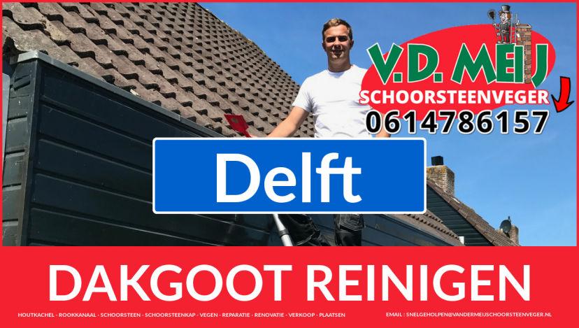 dakgoot vegen Delft