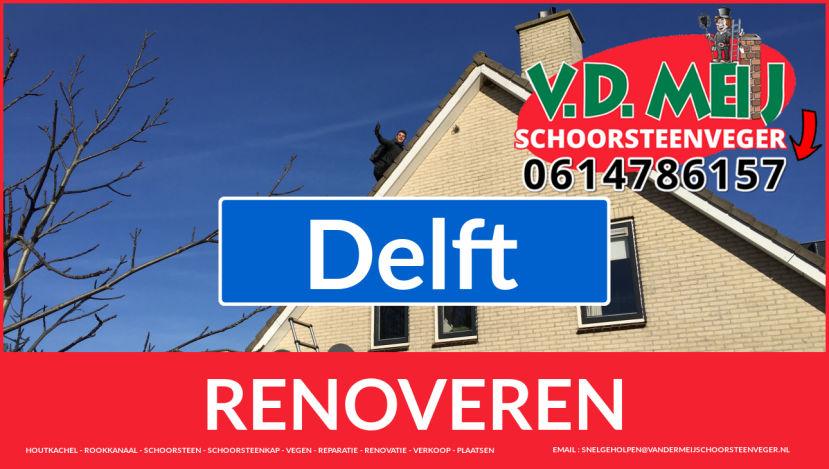 Tot ziens bij Van der Meij schoorsteen restauratie Delft