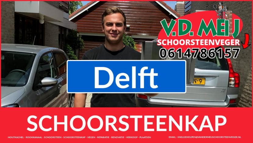 schoorsteenkappen vervangen in Delft