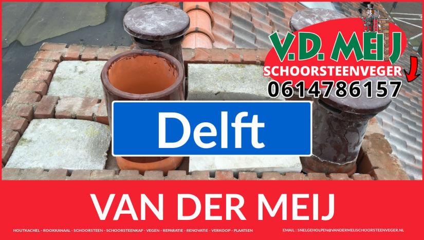 Van der Meij schoorsteen renovatie in Delft