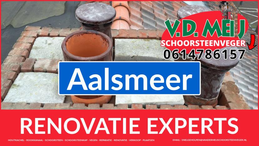 gehele schoorsteen renovatie in Aalsmeer