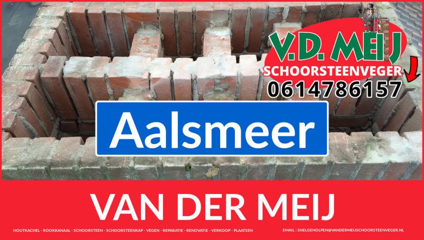Van der Meij schoorsteen restauratie in Aalsmeer