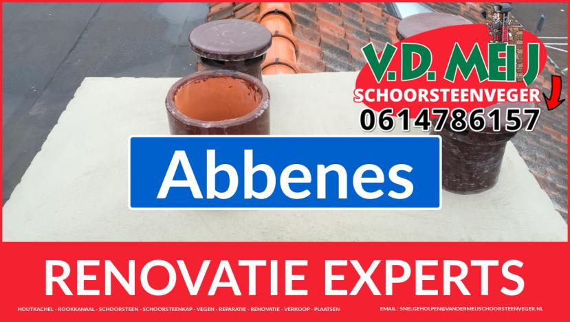 volledige schoorsteen renovatie in Abbenes