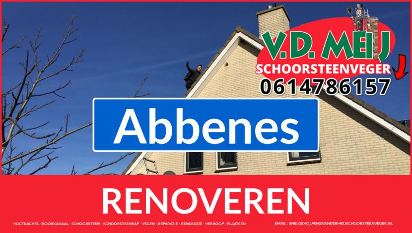 Tot ziens bij Van der Meij schoorsteenrenovatie Abbenes