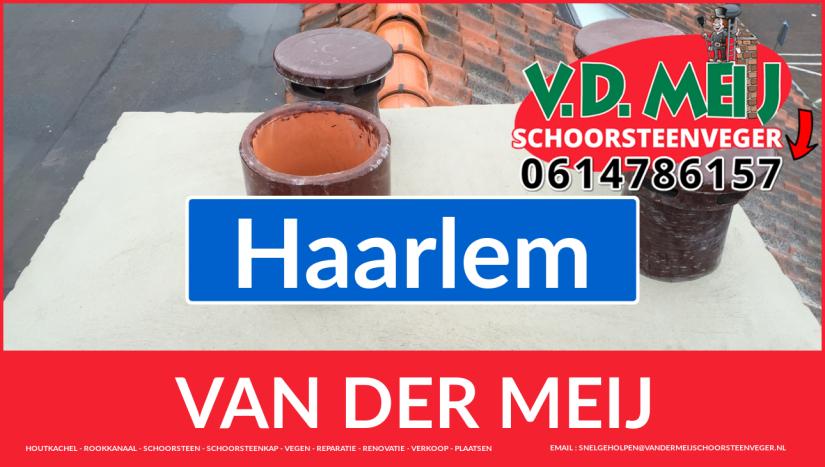 Van der Meij schoorsteen restauratie in Haarlem