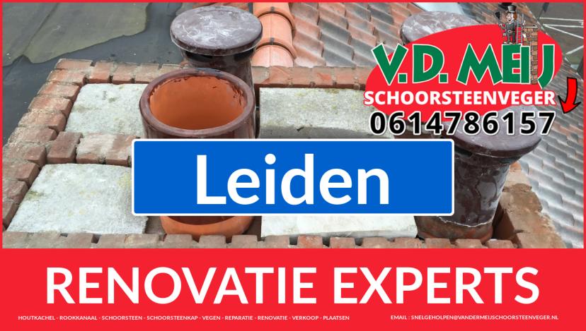 algehele schoorsteen restauratie in Leiden