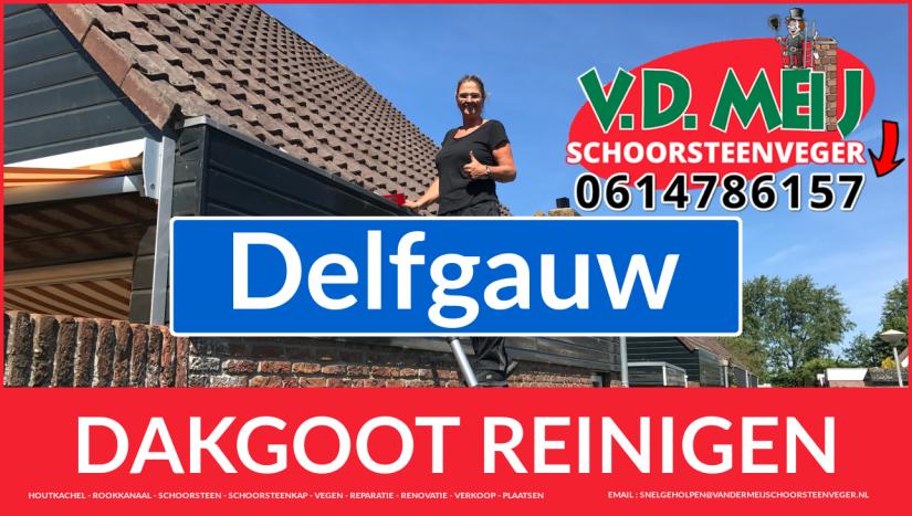 dakgoot reinigen Delfgauw