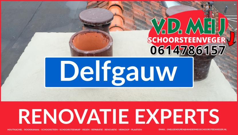 totale schoorsteen restauratie in Delfgauw