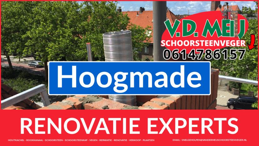 complete schoorsteen renovatie in Hoogmade