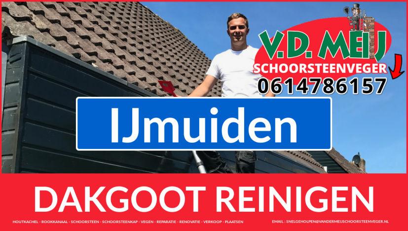 dakgoot schoonmaken IJmuiden