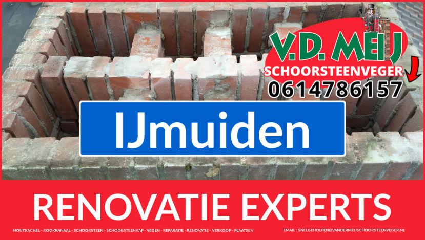 gehele schoorsteen restauratie in IJmuiden
