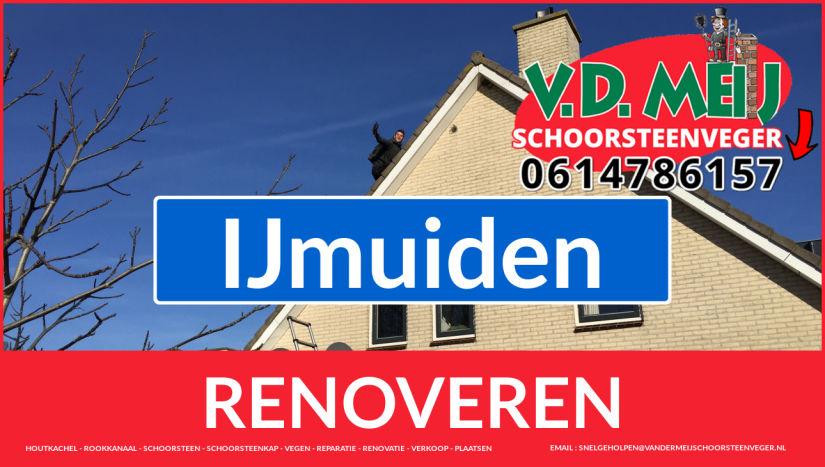 Tot ziens bij Van der Meij schoorsteenrenovatie IJmuiden
