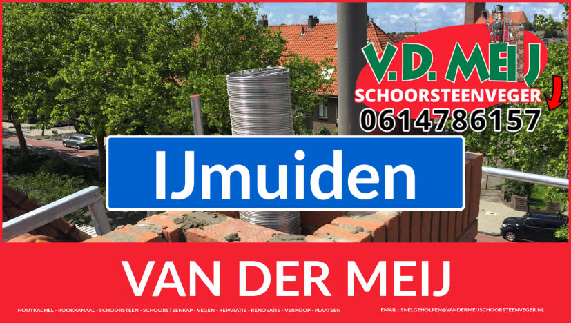 Van der Meij schoorsteen restauratie in IJmuiden