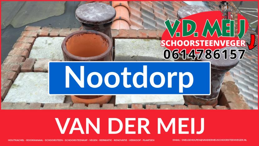 Van der Meij schoorsteen restauratie in Nootdorp