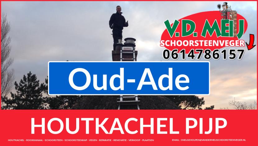 enkelwandig rook-kanaal vervangen in Oud-Ade