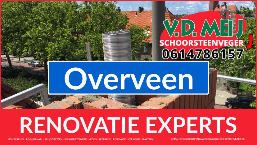 gehele schoorsteen restauratie in Overveen