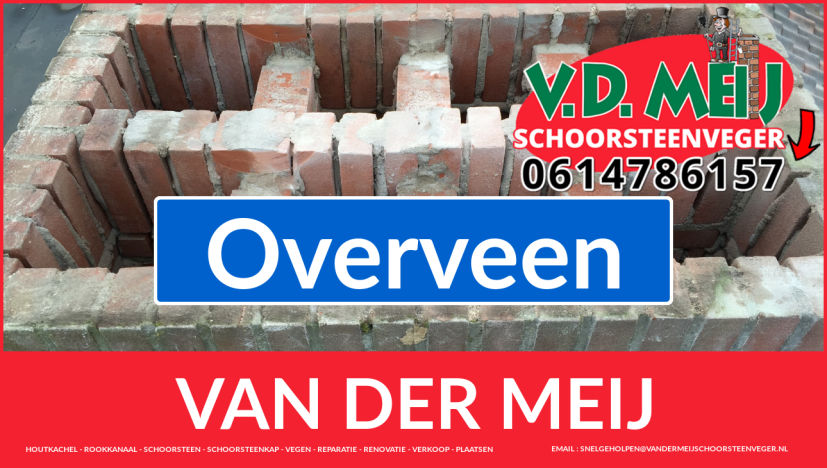 Van der Meij schoorsteen renovatie in Overveen