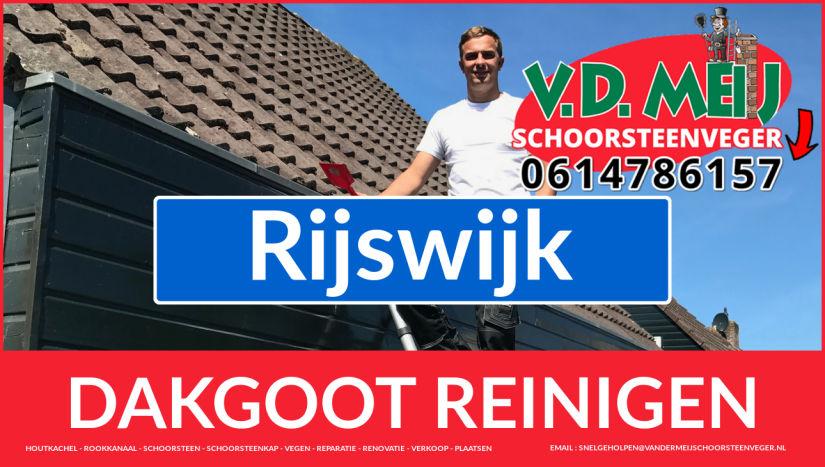 dakgoot reinigen Rijswijk