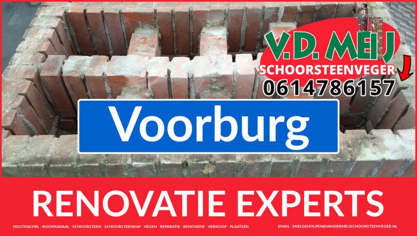 volledige schoorsteenrenovatie in Voorburg