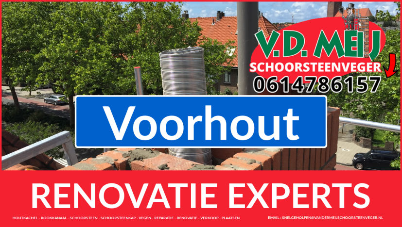 totale schoorsteen restauratie in Voorhout
