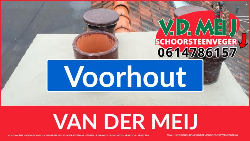 Van der Meij schoorsteen restauratie in Voorhout