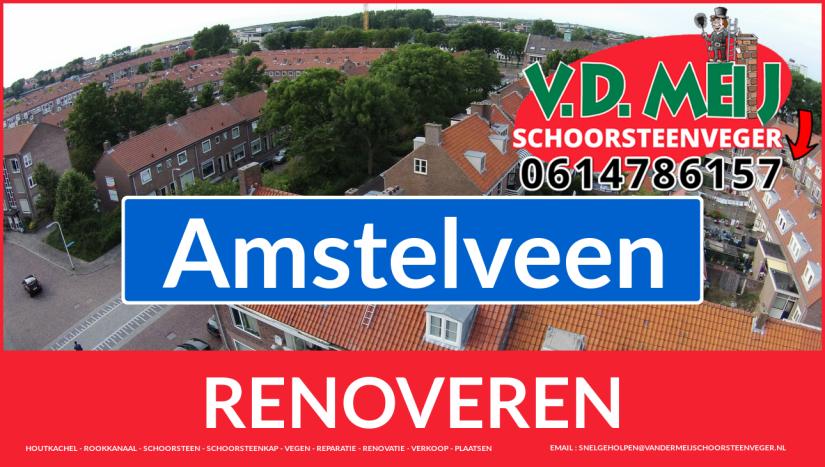 Tot ziens bij Van der Meij schoorsteen restauratie Amstelveen