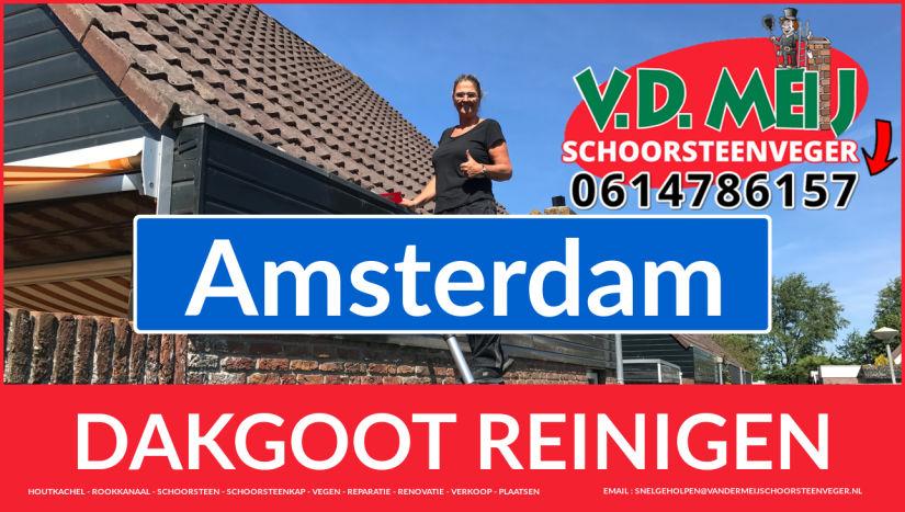 dakgoot reinigen Amsterdam