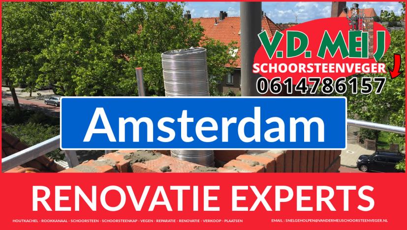 gehele schoorsteen renovatie in Amsterdam