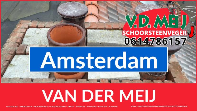Van der Meij schoorsteen restauratie in Amsterdam