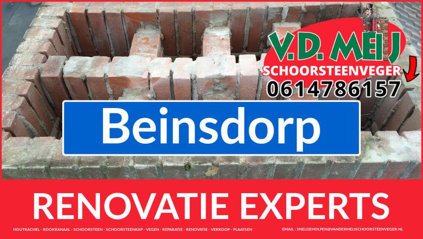algehele schoorsteen renovatie in Beinsdorp