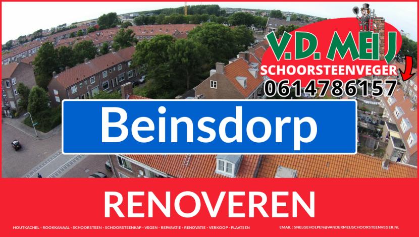 Tot ziens bij Van der Meij schoorsteen restauratie Beinsdorp