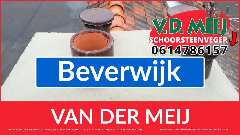 Van der Meij schoorsteen restauratie in Beverwijk