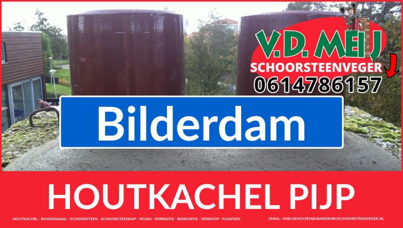 enkel-wandig rook-kanaal vervangen in Bilderdam